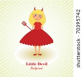 cute little devil background | Shutterstock .eps vector #70395742