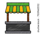 empty stand stall template... | Shutterstock .eps vector #703960552