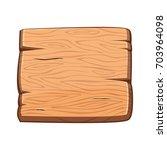 vector cartoon wooden banner...