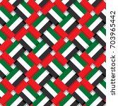 repeating united arab emirates... | Shutterstock .eps vector #703965442