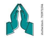 praying hands icon image  | Shutterstock .eps vector #703972246