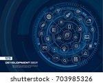 abstract development ... | Shutterstock .eps vector #703985326