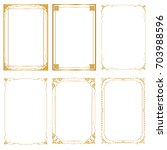 set decorative frame and... | Shutterstock .eps vector #703988596