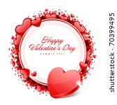valentine's day vector... | Shutterstock .eps vector #70399495