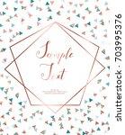 copper glitter triangles ... | Shutterstock .eps vector #703995376