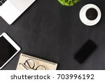 business device on table | Shutterstock . vector #703996192