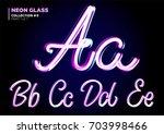 neon glowing 3d typeset. font... | Shutterstock .eps vector #703998466