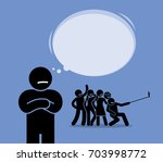 antisocial or anti social. a... | Shutterstock .eps vector #703998772