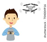 the man operating the drone   Shutterstock .eps vector #704004916
