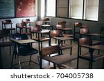 soft and blur focus.row lecture ... | Shutterstock . vector #704005738