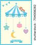 baby shower card for newborn...   Shutterstock .eps vector #704008282