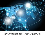 global network background | Shutterstock .eps vector #704013976