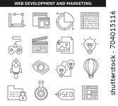 web development and marketing... | Shutterstock .eps vector #704015116