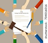 fcpa foreign corrupt practices... | Shutterstock .eps vector #704016016