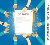 iso 26000 social responsibility ...   Shutterstock .eps vector #704017012