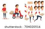 food delivery service. order... | Shutterstock .eps vector #704020516