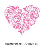 greeting card with pink floral...