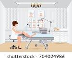spa facial massage treatment... | Shutterstock .eps vector #704024986