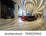 luxury lobby interior.   Shutterstock . vector #704025442