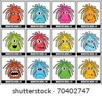 twelve colorful monsters | Shutterstock .eps vector #70402747