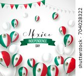 16 september  mexico happy... | Shutterstock .eps vector #704028322
