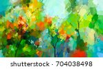 abstract colorful oil painting... | Shutterstock . vector #704038498