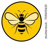 illustration of bee circle... | Shutterstock .eps vector #704045635