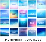 big set of 20 square blurred... | Shutterstock .eps vector #704046388