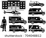 medical concept. set of... | Shutterstock .eps vector #704048812