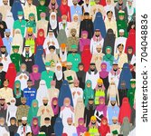 seamless pattern social concept.... | Shutterstock .eps vector #704048836