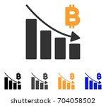 bitcoin recession bar chart... | Shutterstock .eps vector #704058502