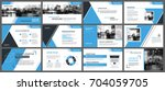 blue presentation templates and ... | Shutterstock .eps vector #704059705