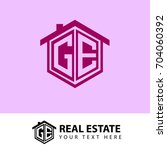 initial letter g  e  ge logo ... | Shutterstock .eps vector #704060392