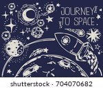 banner with sketch stars ... | Shutterstock .eps vector #704070682