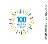 100th happy birthday logo ... | Shutterstock .eps vector #704072272