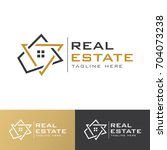 real estate g letter  logo | Shutterstock .eps vector #704073238