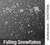 snowflake vector. falling...   Shutterstock .eps vector #704074336
