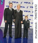 Small photo of Pink, Willow Sage Hart and Carey Hart at the 2017 MTV Video Music Awards held at the Forum in Inglewood, USA on August 27, 2017.