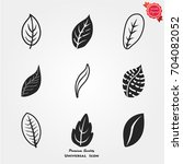 leaf icons vector | Shutterstock .eps vector #704082052