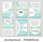 abstract vector layout... | Shutterstock .eps vector #704085616