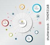 net  molecule structure with... | Shutterstock .eps vector #704092168