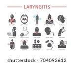 laryngitis. symptoms  treatment.... | Shutterstock .eps vector #704092612