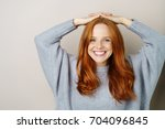 Happy Relaxed Young Woman With...