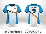 blue and white layout football... | Shutterstock .eps vector #704097742