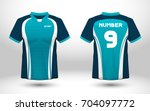 blue and white layout football... | Shutterstock .eps vector #704097772