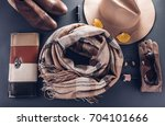 autumn female outfit. set of... | Shutterstock . vector #704101666