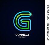letter g logo design circle... | Shutterstock .eps vector #704110786