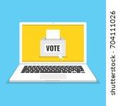 voting online concept. voting...   Shutterstock .eps vector #704111026