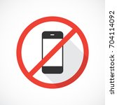 no cell phones icon | Shutterstock .eps vector #704114092