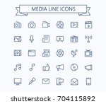 multimedia vector icons set....